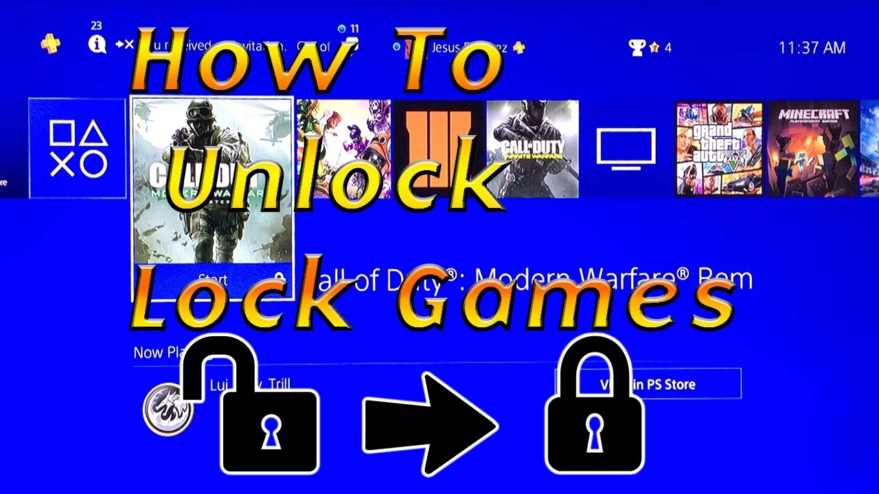 How to Unlock Locked Games on PS4 (Gameshare)