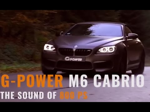 G-power BMW M6 Convertible with changed turbos: 800 HP