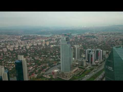 View from the Sapphire Tower and the call to prayer - Istanbul, Turkey