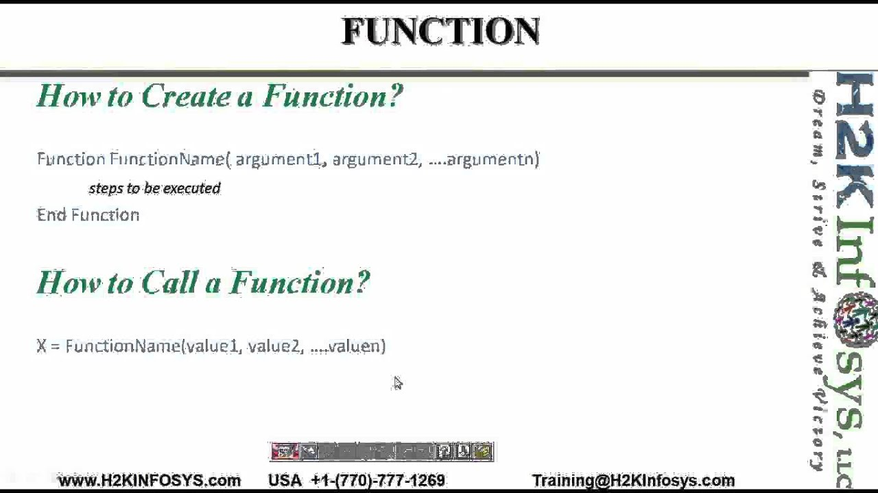 QTP how to write vb functions vb script,QTP automation testing, QTP ...