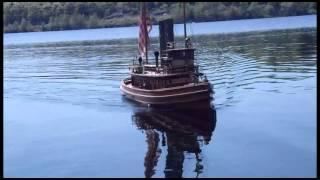 Live Steam Tugboat Model