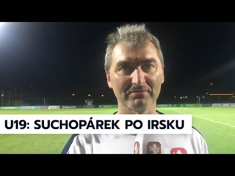 U19   Trenér Jan Suchopárek po zápase s Irskem na ME