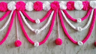 Diy Woolen Door Toran/ Woolen Craft Idea/ Decoration Idea Woolen/Diwali Decorations/Diy Room Decor/