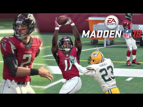 Madden 18 Packers Vs Falcons Gameplay (Mercedes-Benz Stadium) Full Game