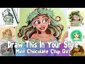 DRAW THIS IN YOUR STYLE CHALLENGE - Mint Chocolate Chip Girl INSTAGRAM CHALLENGE