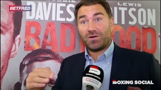 """PATRICK DAY LOVED BOXING!"" EDDIE HEARN ON PATRICK DAY TRAGEDY/RITSON-DAVIES JR/USYK & JOSHUA-RUIZ 2"