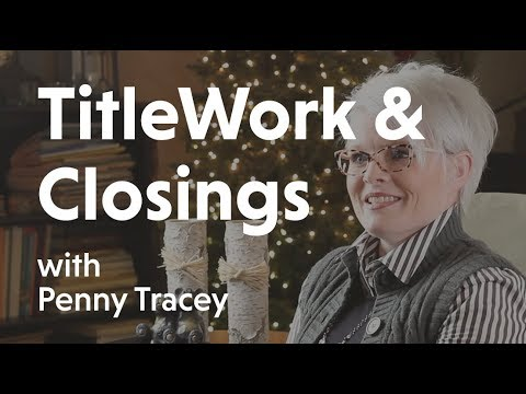 Title Work And Closing With Penny Tracey At First American Title