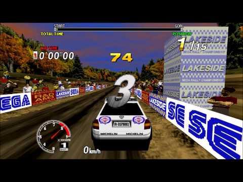 Sega Rally Championship Arcade Complete run 1080p