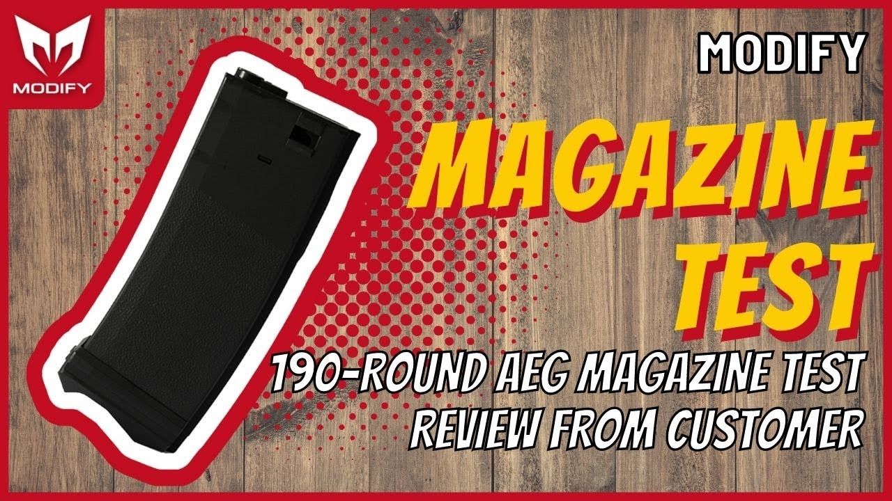 190 modify 190 round aeg magazine test for Watch magazine customer service