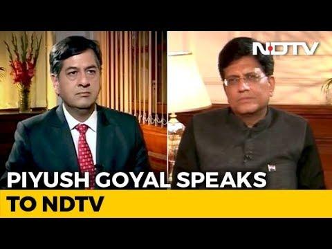 Minister Piyush Goyal Speaks To NDTV On Interim Budget