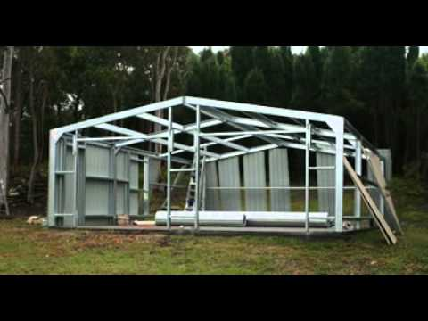 frame x vsl ki building htm kit shed garage p steel