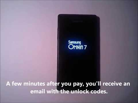 How to Unlock Samsung Omnia 7 i8700 -- FastGSM.com