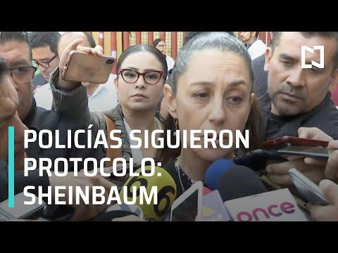 Balacera del Centro Histórico: Policías actuaron conforme a protocolo: Sheinbaum