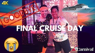 Carnival Cruise Final Day at Sea/Lip Sync Battle: Travel Vlog Day 5