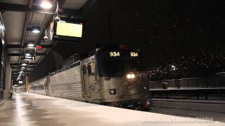 Amtrak Trains at Metropark Station including ACS-64 No. 600