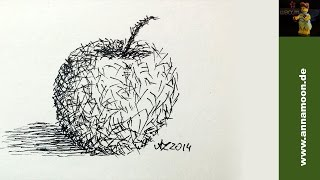 How To Draw An Apple With No Outlines Using Faber Castell PITT Artist Pen