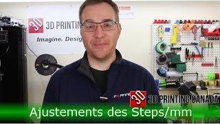 Impression 3D - Configuration des Steps/mm (suite)
