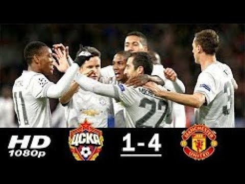 Manchester United vs CSKA Moscow 4-1 Highlights & Goals - 27 Sep 2017