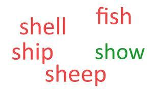 """Уроки читання англійською для дітей / 5 слів в день / звук """"ʃ"""" № 19 Аудіо Словник"""