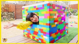 Kukmin has a cold pretend play with Mega block toys