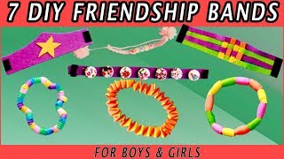 7 Types of Friendship Bands | #DIY Best out of waste | Easy to make Craft with Aayu Pihu