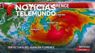 Ya comienzan los salvajes efectos del huracán #Florence a las Carolinas (sin audio)