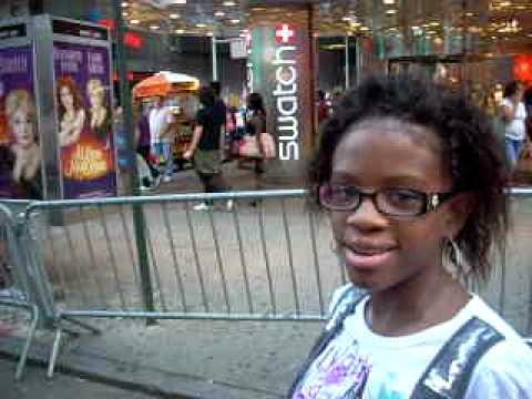 Maniche Francois Future Music Superstar R&B/Pop Singer On Tmesquare New York City July 2010
