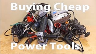 Buying Cheap Power Tools   Beginners #14  -a  Woodworkeb Video