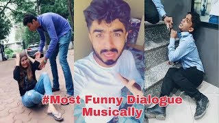 Most Funny Dialogue Musically September || Best Comedy Dialogue Musically Compilation India