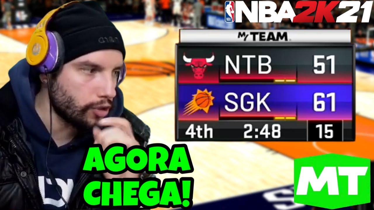 NBA 2K21 - SÓ UM MILAGRE PRA VIRAR CONTRA O GRINGO NO MYTEAM ONLINE (ELETRIZANTE) PT-BR