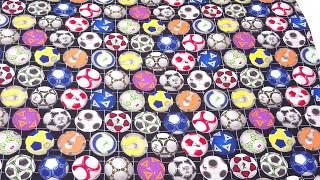black soccer ball net sport fabric for boys Elizabeth's Studio