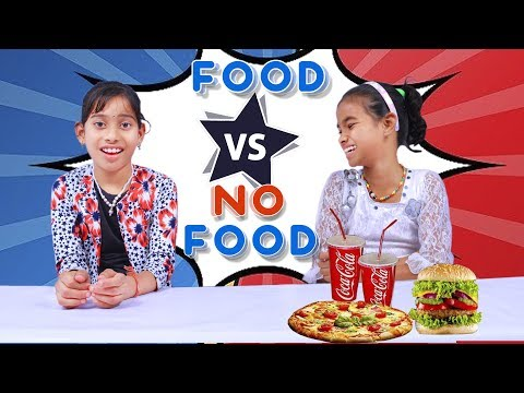 Food Vs No Food Challenge  Eating Competition  by #FOODIECHALLENGE#