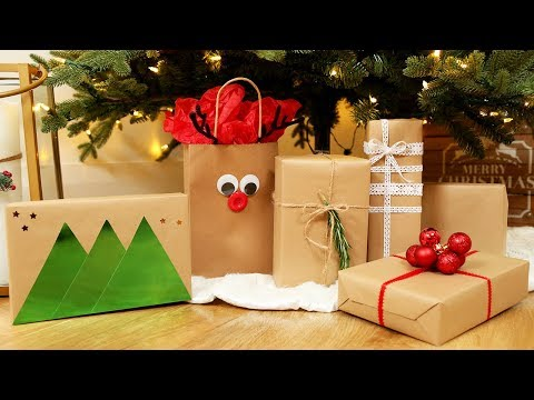 EASY Giftwrapping Ideas | Holiday 2017