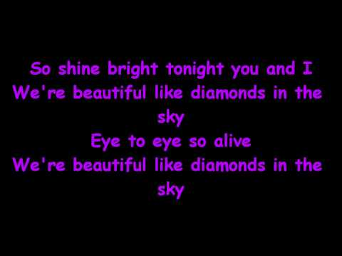 Rihanna - Diamonds (Remix) [feat. Kanye West] (Lyrics on Screen)