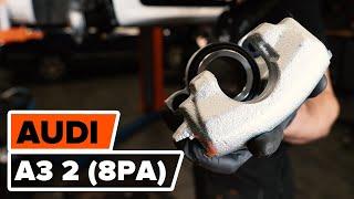 Montering Bremsecaliper Reparasjonssett AUDI A3 Sportback (8PA): gratis video