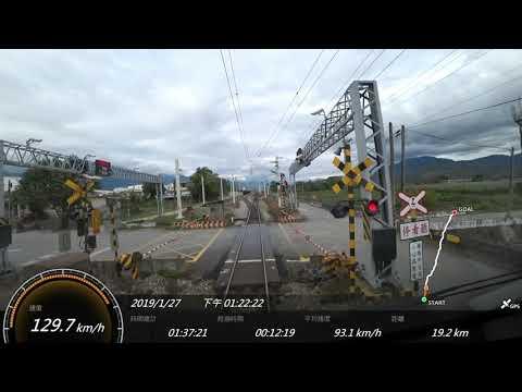 2019.1台鐵 6421次TEMU1000太魯閣號 台東-花蓮 SONY FDR-X3000 Action Cam GPS 參數資料 路程景