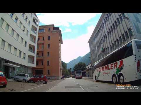I: Trento (Trient).  Trentino-Alto Adige. Driving through the city. June 2017