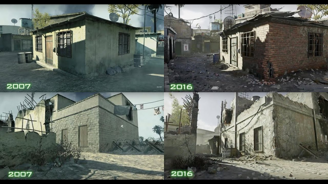 Call of Duty Modern Warfare Remastered Old vs New YouTube
