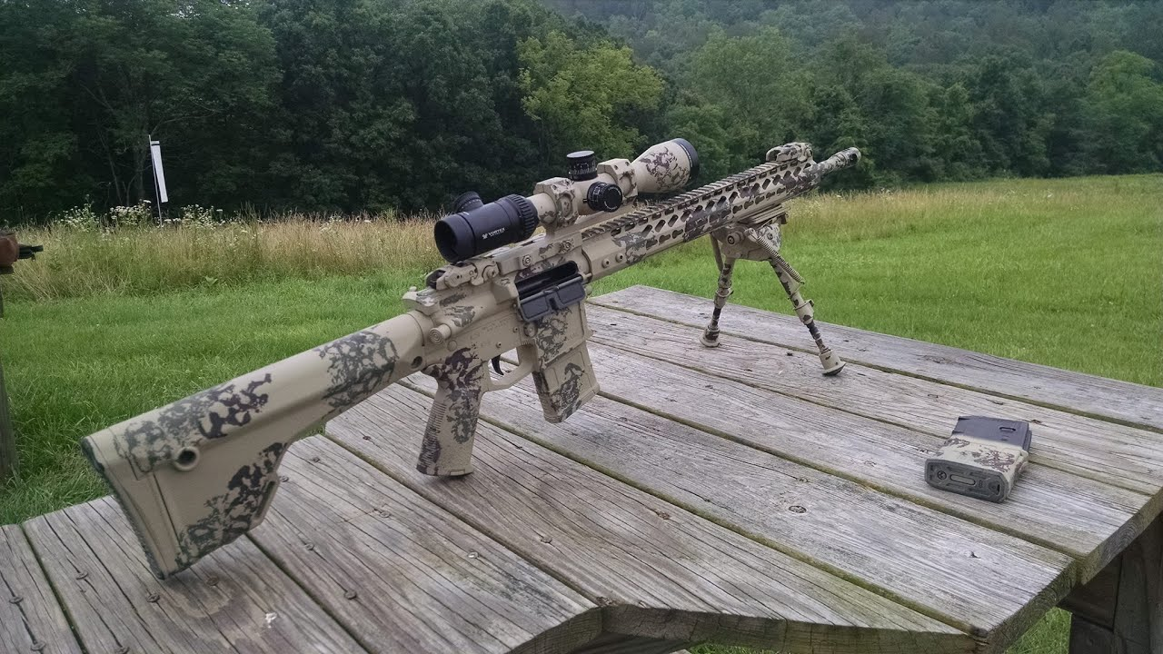 Ringing steel at 600 yards with my AR15 SPR rifle - YouTube