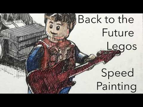 Speed Painting: Back to the Future Legos