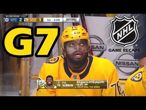 Winnipeg Jets vs Nashville Predators. 2018 NHL Playoffs. Round 2. Game 7. 05.10.2018. (HD)