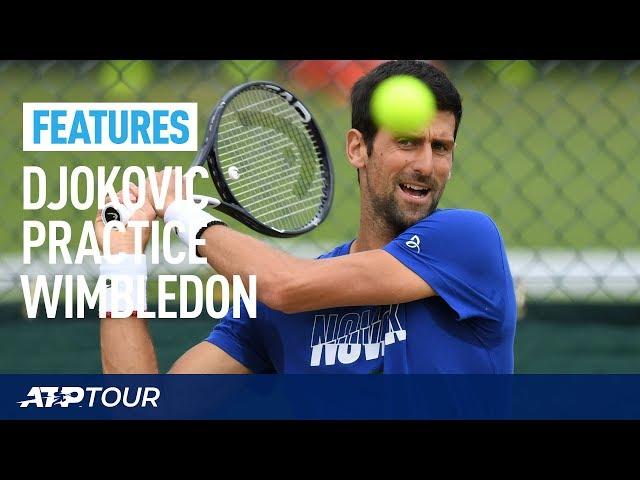 WIMBLEDON | Novak Djokovic Practice Session