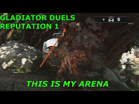 FOR HONOR REPUTATION 1 DUELS GLADIATOR (this is my arena)