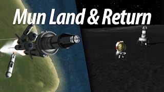 Go to Mun, Land and Return (Beginner Tutorial: Part 7) - Kerbal Space Program (KSP) 1.1 Stock Career