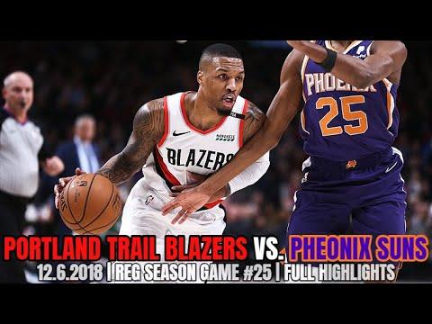 Portland Trail Blazers vs Phoenix Suns - Full Game Highlights - December 6, 2018