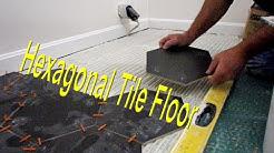 Installing a Hexagonal tile floor.