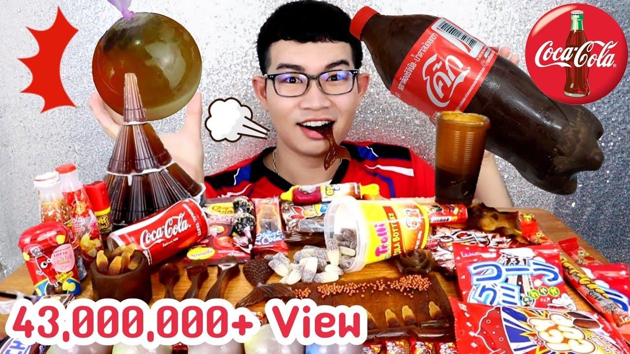 เยลลี่เคียวโฮยักษ์ รสโคล่า ขวดโค้กยักษ์กินได้ Ep2 #Mukbang Edible Giant Coke Bottle Cola Kyoho:ขันติ