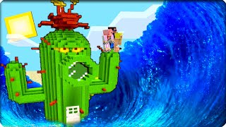 🌵Мы пережили Цунами внутри Кактуса в Майнкрафт Шеди Нуб и Девушка Minecraft выживание Дом в Кактусе