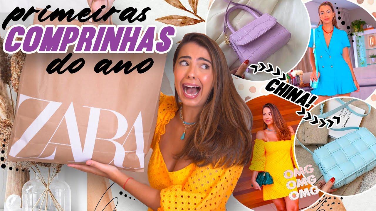 Minhas PRIMEIRAS COMPRINHAS de 2021: bolsas da china, Zara, NV... ✨