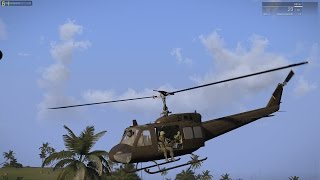 ARMA 3 vietnam huey ride with 7th Cav-NAM mod and Huey Pack